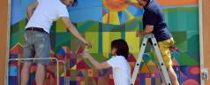 """Murales """"ecologici"""", in un video le colorate fasi di realizzazione"""
