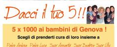 """Fondazione MUVITA sostiene la campagna """"Dacci il tuo 5!!"""" della Consulta Diocesana di Genova"""